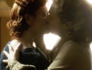 Lesbian kiss Upstairs Downstairs TV Times   4th March 2012